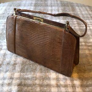 Vintage Authentic Python Handbag